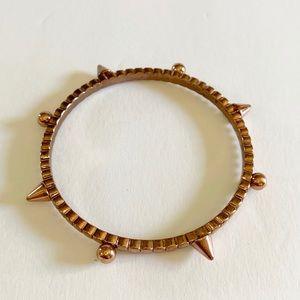 Vintage Copper Spike Geometric Bangle Bracelet